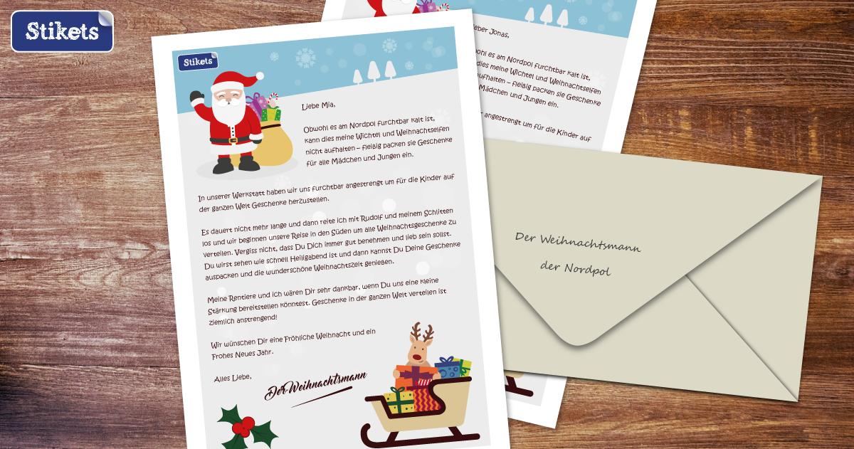 Brief Vom Weihnachtsmann Stikets