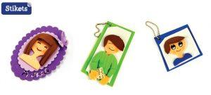 Brosche und Schlüsselanhänger aus Moosgummi