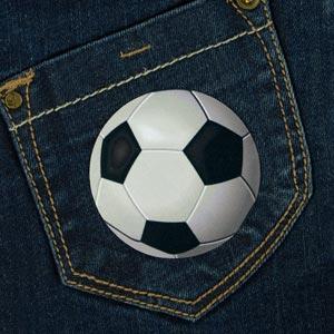 Bügelbild Fußball