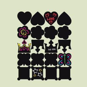 Tafelaufkleber Kollektion Prinzessin